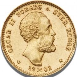 Moneda > 10kroner, 1877-1902 - Noruega  - obverse