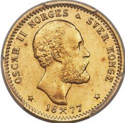 Moneta > 10kronų, 1877-1902 - Norvegija  - obverse