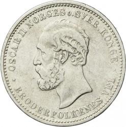 Moneta > 2kronos, 1878-1904 - Norvegija  - obverse