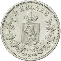 Coin > 2kroner, 1878-1904 - Norway  - reverse