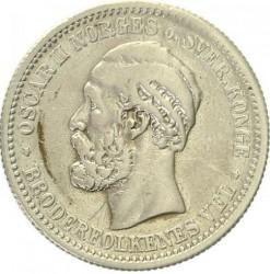 Moneta > 1krona, 1877-1904 - Norvegija  - obverse