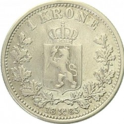Moneta > 1krona, 1877-1904 - Norvegija  - reverse