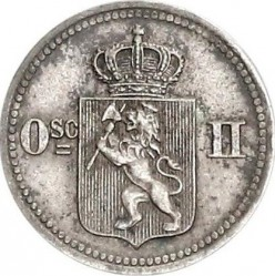 Coin > 10 ore, 1874-1875 - Norway  - obverse