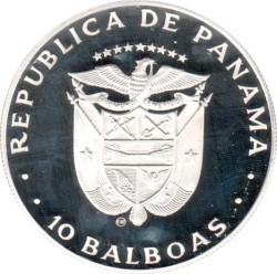 Moneta > 10balboas, 1982 - Panama  (XII Coppa del Mondo FIFA, Spagna 1982) - obverse