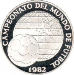 Moneta > 5balboas, 1982 - Panama  (XII Coppa del Mondo FIFA, Spagna 1982) - reverse
