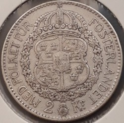 Mynt > 2kroner, 1912 - Sverige  - reverse