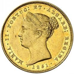 Монета > 5000рейса, 1851 - Португалия  - obverse