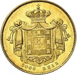 Монета > 5000рейса, 1851 - Португалия  - reverse