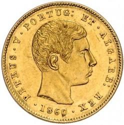 Монета > 5000рейса, 1860-1861 - Португалия  - obverse