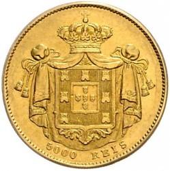 Монета > 5000рейса, 1860-1861 - Португалия  - reverse