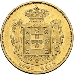 Кованица > 5000реиса, 1867-1889 - Португал  - reverse