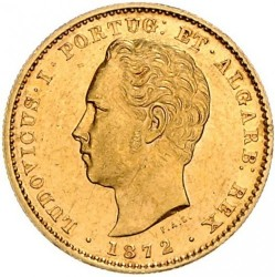 Монета > 5000рейса, 1867-1889 - Португалия  - obverse