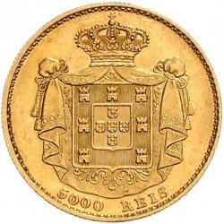 Монета > 5000рейса, 1867-1889 - Португалия  - reverse