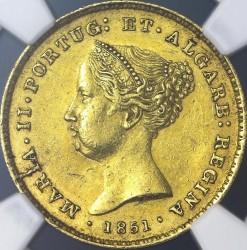 Монета > 2500рейса, 1851 - Португалия  - obverse