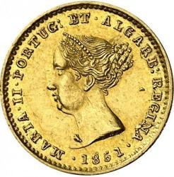 سکه > 1000ریس, 1851 - پرتغال  - obverse
