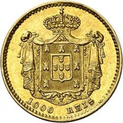 سکه > 1000ریس, 1851 - پرتغال  - reverse