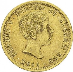 Кованица > 1000реиса, 1855 - Португал  - obverse