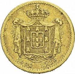 Кованица > 1000реиса, 1855 - Португал  - reverse