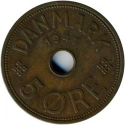 Münze > 5Öre, 1941 - Färöer Inseln  - reverse
