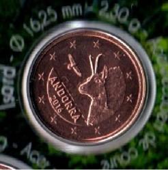 1 Eurocent 2016 Andorra Münzen Wert Ucoinnet