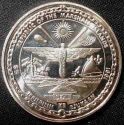 Moneta > 5dollari, 1991 - Marshall (Isole)  (To the Heroes of Desert Storm) - obverse