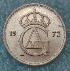 Moneta > 25ore, 1962-1973 - Svezia  - obverse