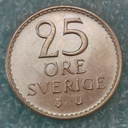 Moneta > 25ore, 1962-1973 - Svezia  - reverse