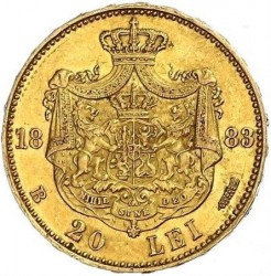 錢幣 > 20列伊, 1883-1890 - 羅馬尼亞  - reverse