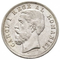 Coin > 50bani, 1884-1885 - Romania  - obverse