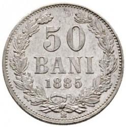 Coin > 50bani, 1884-1885 - Romania  - reverse