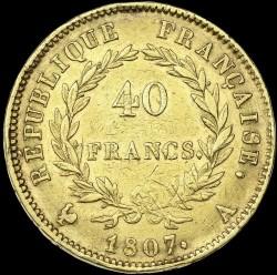 Münze > 40Franken, 1807 - Frankreich  (Old type: w/o wreath) - reverse