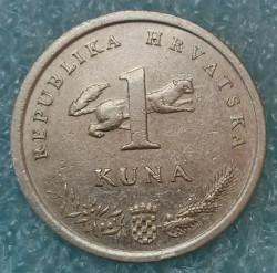 Münze > 1Kuna, 1993-2017 - Kroatien   - obverse