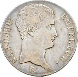 سکه > 5فرانک, 1807 - فرانسه  (Old type: big portrait, w/o wreath) - obverse