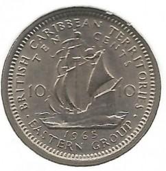 Монета > 10цента, 1955-1965 - Източни Кариби  - obverse