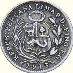 سکه > ½دینرو, 1890-1917 - پرو  - obverse