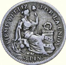 سکه > ½دینرو, 1890-1917 - پرو  - reverse