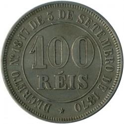 Монета > 100рейса, 1871-1885 - Бразилия  - reverse