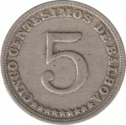 Moneta > 5sentesimų, 1929-1932 - Panama  - reverse