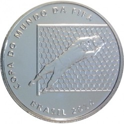 Moneta > 2reale, 2014 - Brazylia  (Mundial 2014 - Obrona bramkarza) - reverse