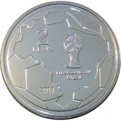 Moneta > 2reale, 2014 - Brazylia  (Mundial 2014 - Główka) - obverse