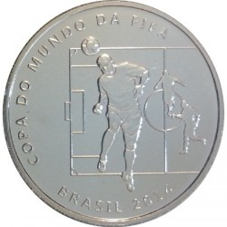 Moneta > 2reale, 2014 - Brazylia  (Mundial 2014 - Główka) - reverse