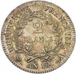 Münze > 2Franken, 1803-1807 - Frankreich  - reverse