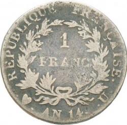 Mynt > 1franc, 1803-1805 - Frankrike  - reverse