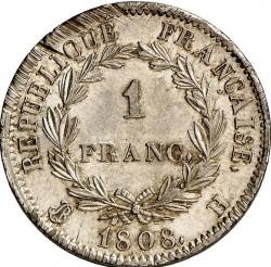 Münze > 1Franken, 1807-1808 - Frankreich  - reverse