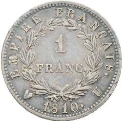 Mynt > 1franc, 1809-1814 - Frankrike  - reverse