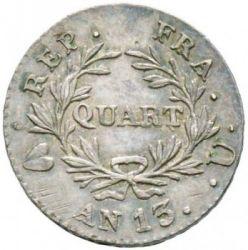 Mynt > ¼franc, 1803-1805 - Frankrike  - reverse