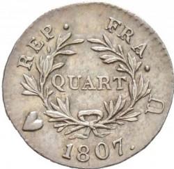 Münze > ¼Franken, 1806-1807 - Frankreich  - reverse