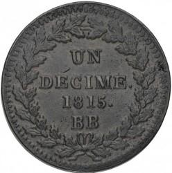 Münze > 1Décime, 1814-1815 - Frankreich  - reverse