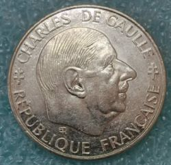 Coin > 1 franc, 1988 - France  (30th Anniversary - Fifth Republic) - reverse