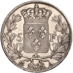 Coin > 5francs, 1824-1826 - France  - reverse